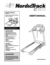 NordicTrack C80i Treadmill Manual