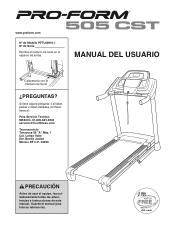 ProForm 505 Cst Treadmill Manual