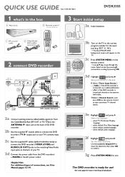 Philips DVDR3355 Manual