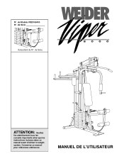 Free PDF manual download for the Weider Viper 2000 French