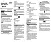 Sony SRS-X3 Manual