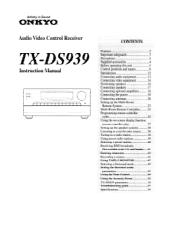 Onkyo TX-DS939 Manual