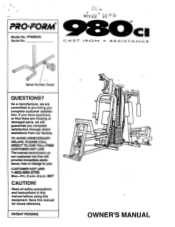ProForm 980 Ci Manual