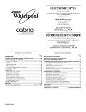 Whirlpool WED7600XW Manual