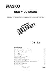 Asko D3122 Manual