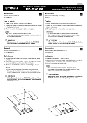 Yamaha RK-MG102 Manual