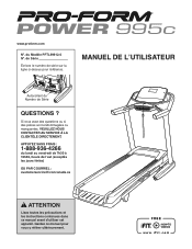 ProForm Power 995 C Treadmill Manual