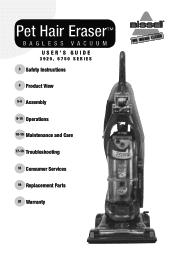 Bissell Pet Hair Eraser Vacuum Manual