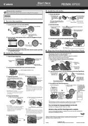 Canon PIXMA MP500 Manual
