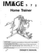 Image Fitness 570 Home Trainer Manual