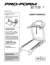 ProForm 615 T Treadmill Manual