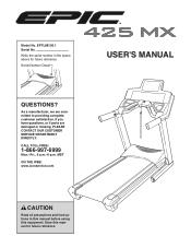 Epic Fitness 425 Mx Treadmill Manual