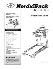 NordicTrack C 990 Manual