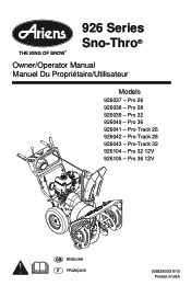 Ariens Professional 28 Manual