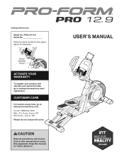 ProForm Pro 12.9 Elliptical Manual