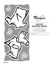 Whirlpool WED7500VW Manual
