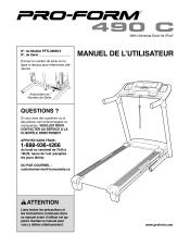 ProForm 490 C Treadmill Manual
