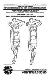Hoover UH70820 Manual