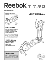 Reebok T7.90 Elliptical Manual
