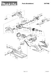 Makita 5477NB Manual