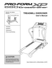 ProForm Xp 680 Crosstrainer Treadmill Manual