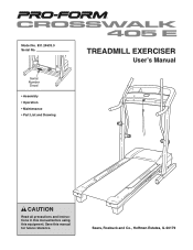 ProForm Crosswalk 405 E Treadmill Manual