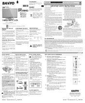Sanyo DP39843 Manual