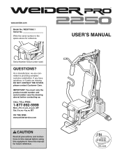 Weider 1200 Manual