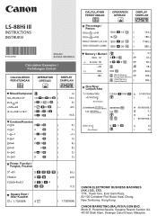 Canon LS-88HI III Manual