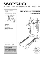 Weslo Crosswalk 5.0t Treadmill Manual