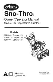 Ariens Compact 24 Manual