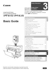 Canon imagePROGRAF iPF825 Manual
