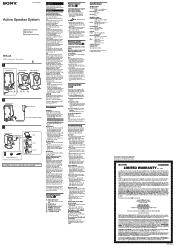 Sony SRS-P3 Manual