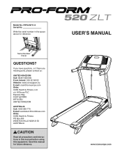 ProForm 520 Zlt Treadmill Manual