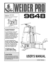 Weider Pro 9648 Manual