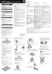 Yamaha VXC8-VA Manual