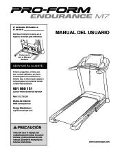 ProForm Endurance M7 Treadmill Manual