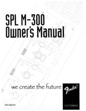 Fender SPL M-300 Monitor Amplifier Manual