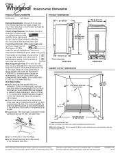 Whirlpool WDF518SAFM Manual