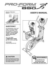 ProForm Space Saver 890 Elliptical Manual