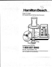 Hamilton Beach 702R Manual