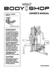 Weslo Body Shop 9 Manual