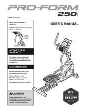 ProForm 250i Elliptical Manual