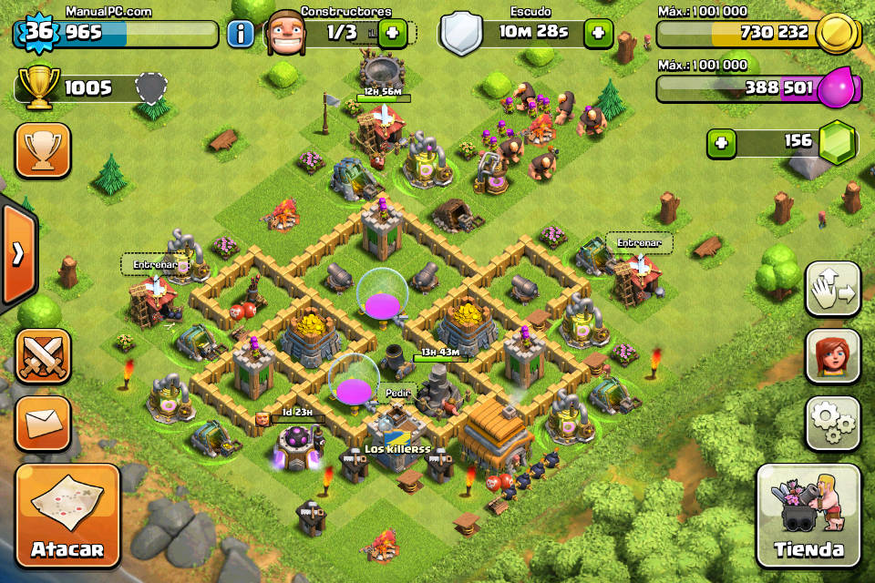 clash of clans tx-8050 manual