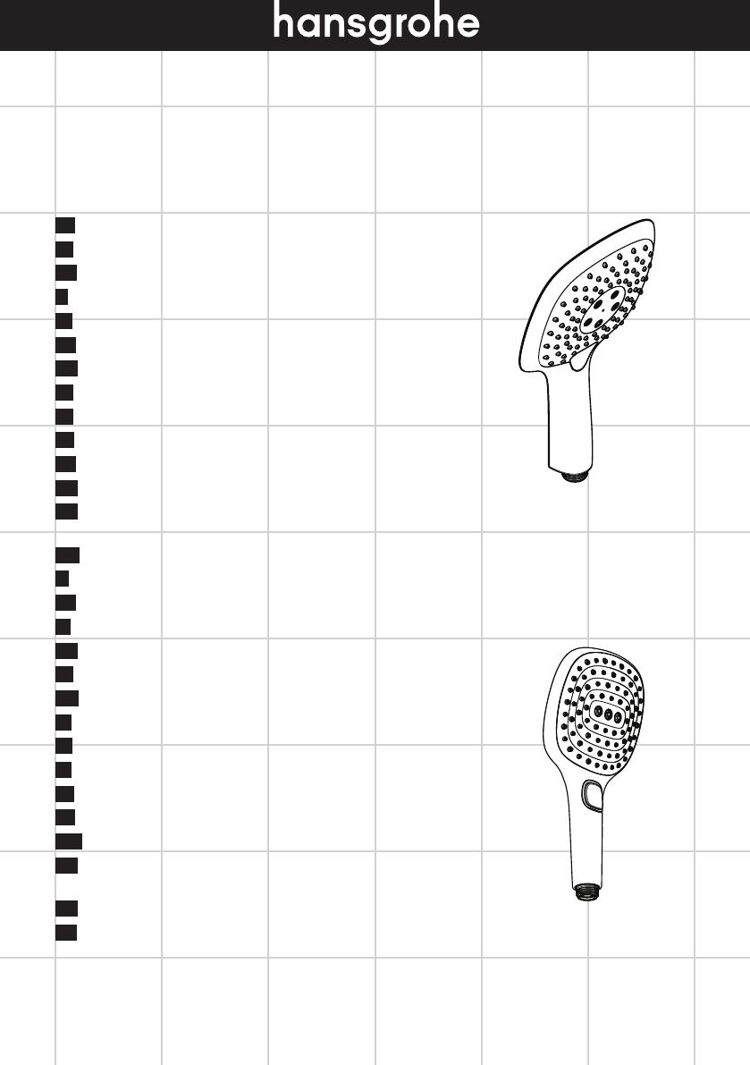 Manual Hansgrohe Raindance Select E 150 (20 páginas)