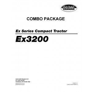 Cub Cadet Yanmar EX Series EX3200 Manuals COMBO Package