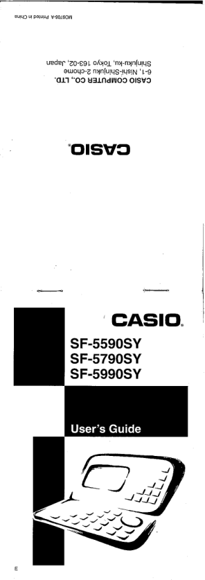 Free download program Casio Bp-120 User Manual