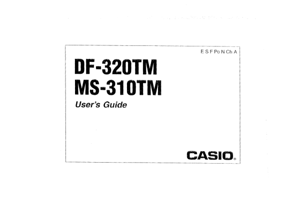 CASIO DF-320TM MANUAL PDF DOWNLOAD