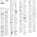 Sony ICD-BX112 manual