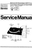 Philips 22AF777 manual